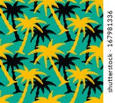seamless pattern with coconut... | Shutterstock .eps vector #167981336