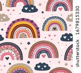 seamless pattern with love...   Shutterstock .eps vector #1679815330