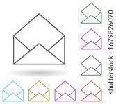 open envelope multi color icon. ...