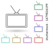 tv with antenna multi color...