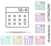 calculator multi color icon....