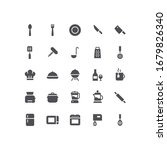 flat kitchen tools food icons | Shutterstock .eps vector #1679826340