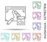 css coding multi color icon....