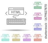html coding multi color icon....
