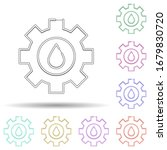 hydro energy multi color icon....