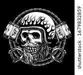 skull rider motorcycle with...   Shutterstock .eps vector #1679832859