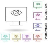 view monitor multi color icon....