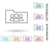 folder users multi color icon....