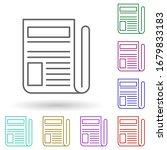 newspaper multi color icon....