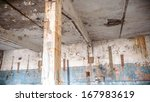 ruins of a very heavily... | Shutterstock . vector #167983619