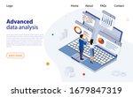 data analysis design concept.... | Shutterstock .eps vector #1679847319