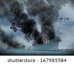 digital oil painting of an... | Shutterstock . vector #167985584