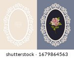 laser cut lace oval frame ... | Shutterstock .eps vector #1679864563