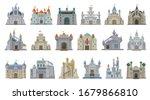 medieval castle vector cartoon... | Shutterstock .eps vector #1679866810