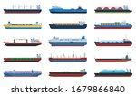barge vector cartoon set icon.... | Shutterstock .eps vector #1679866840