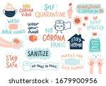 coronavirus covid 19 letterings ... | Shutterstock .eps vector #1679900956