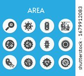 area filled icon set on theme... | Shutterstock .eps vector #1679912083