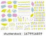 vector set of brush strokes ... | Shutterstock .eps vector #1679916859