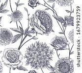 floral seamless pattern. garden ... | Shutterstock .eps vector #1679923759
