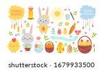 Easter Color Cartoon Flat...