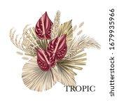 Boho Bouquet Dried Palm Leaves...