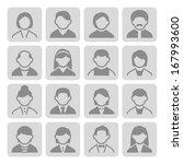 user icons set 3 2 | Shutterstock .eps vector #167993600