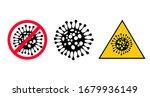 set of icons. coronavirus covid ... | Shutterstock .eps vector #1679936149