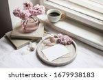 spring still life scene.... | Shutterstock . vector #1679938183
