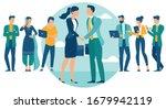 business people shake hands... | Shutterstock .eps vector #1679942119