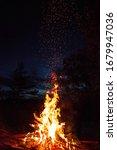 A Bonfire At The Summer Evening.