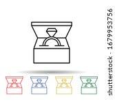 ring multi color icon. simple...