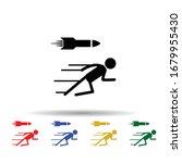 bullet man multi color icon....