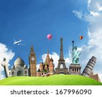 travel. the world monument... | Shutterstock . vector #167996090