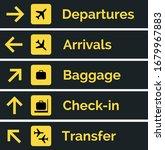 airport sign departure arrival... | Shutterstock .eps vector #1679967883