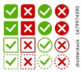set green check marks and red... | Shutterstock .eps vector #1679974390