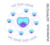 vector we stay home illustration | Shutterstock .eps vector #1679976730