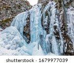 Beautiful Frozen Waterfall ...