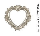 old silver heart picture frame... | Shutterstock . vector #167999744