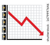 vector graph of petroleum market | Shutterstock .eps vector #1679997646
