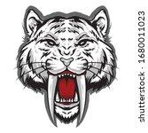 saber tooth head vector logo... | Shutterstock .eps vector #1680011023