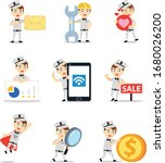 set character of man as a... | Shutterstock .eps vector #1680026200