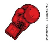 red boxing glove isolated on a... | Shutterstock .eps vector #1680058750