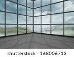 airplane flying past window | Shutterstock . vector #168006713