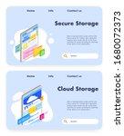 data storage vector website... | Shutterstock .eps vector #1680072373