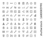 house icon set. collection of... | Shutterstock .eps vector #1680085990