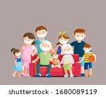 coronavirus disease protection  ... | Shutterstock .eps vector #1680089119
