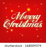 """merry christmas"" red card with ... 