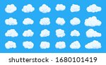 white cloud cartoon style set... | Shutterstock .eps vector #1680101419