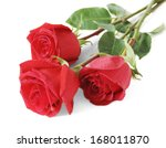 Stock photo red roses bunch isolated on white background 168011870