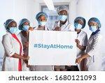 Group of african women nurses...